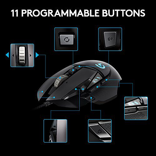 5a3ce8923d3 [NEW] Logitech G502 Gaming Mouse Proteus Spectrum RGB Tunable with 11  Programmable Buttons – Black